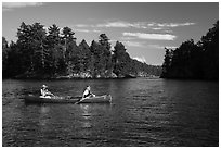 Canoists, Kings William Narrows. Voyageurs National Park ( black and white)