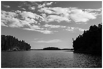 Kings William Narrows and Crane Lake. Voyageurs National Park ( black and white)