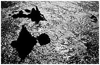 Pointed rocks and ocean, Cathedral Cove, Anacapa Island. Channel Islands National Park, California, USA. (black and white)