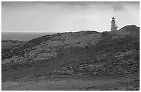 Lighthouse, Anacapa. Channel Islands National Park, California, USA. (black and white)