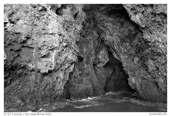Entrance of Painted Cave, Santa Cruz Island. Channel Islands National Park, California, USA.