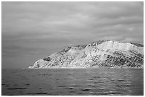 Yellow cliffs, Santa Cruz Island. Channel Islands National Park ( black and white)