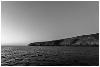 Santa Barbara Island at dawn. Channel Islands National Park ( black and white)