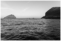 Sutil Island and Santa Barbara Island. Channel Islands National Park ( black and white)