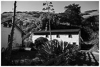 Visitor center, Santa Cruz Island. Channel Islands National Park ( black and white)