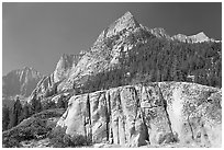 Granite block and peak, Le Conte Canyon. Kings Canyon National Park ( black and white)