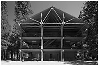 Cedar Grove Lodge. Kings Canyon National Park ( black and white)