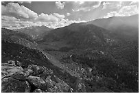 Cedar Grove Valley from Cedar Grove Overlook. Kings Canyon National Park ( black and white)