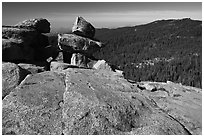Granite slabs, Buena Vista. Kings Canyon National Park, California, USA. (black and white)