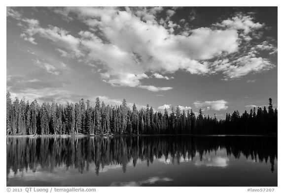 Summit Lake. Lassen Volcanic National Park (black and white)