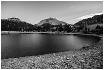 Lake Helen at dawn, late summer. Lassen Volcanic National Park ( black and white)