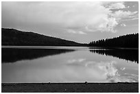 Juniper Lake, late afternoon. Lassen Volcanic National Park ( black and white)