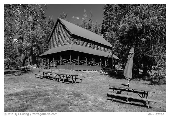Drakesbad Guest Ranch. Lassen Volcanic National Park (black and white)