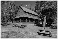 Drakesbad Guest Ranch. Lassen Volcanic National Park ( black and white)