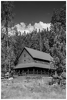 Drakesbad. Lassen Volcanic National Park ( black and white)