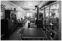 Lobby room, Drakesbad. Lassen Volcanic National Park ( black and white)