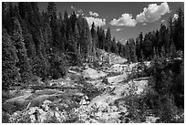 Hot Springs Creek, afternoon. Lassen Volcanic National Park ( black and white)