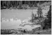 Boiling Springs Lake, Warner Valley. Lassen Volcanic National Park ( black and white)