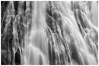 Section of Narada Falls with multiple water channels. Mount Rainier National Park ( black and white)