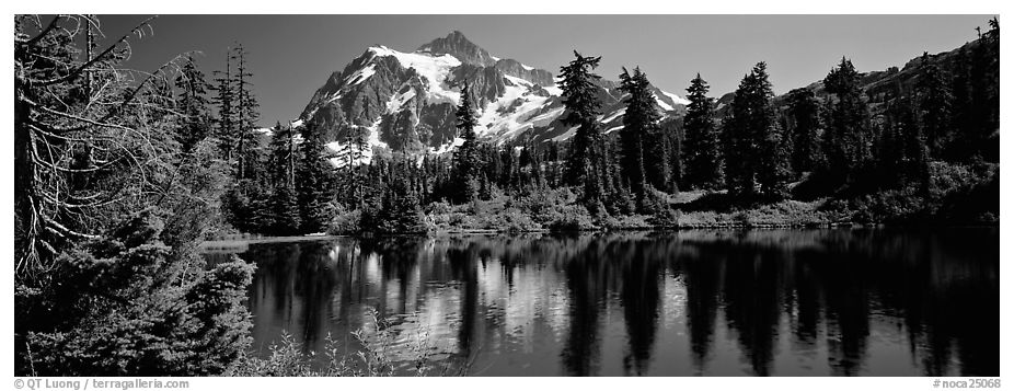 Mount Shuksan,  North Cascades National Park.  (black and white)