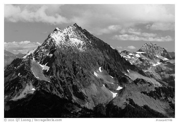 Johannesburg Mountain, North Cascades National Park.  (black and white)
