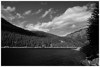 Ross Lake, North Cascades National Park Service Complex.  ( black and white)