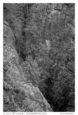 Agnes Gorge, Glacier Peak Wilderness.  (black and white)