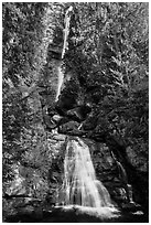 Rainbow Falls, Stehekin, North Cascades National Park Service Complex.  ( black and white)