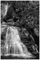 Lower Rainbow Falls, Stehekin, North Cascades National Park Service Complex.  ( black and white)