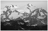 Mount Olympus at sunrise. Olympic National Park ( black and white)