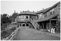 Kalaloch Lodge. Olympic National Park ( black and white)