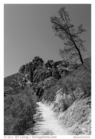High Peaks trail. Pinnacles National Park (black and white)