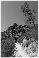 High Peaks trail. Pinnacles National Park ( black and white)
