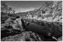 Bear Gulch Reservoir. Pinnacles National Park ( black and white)