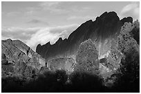Shadows over Machete Ridge. Pinnacles National Park ( black and white)