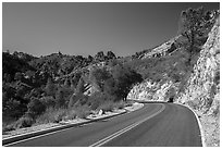Bear Gulch road. Pinnacles National Park ( black and white)