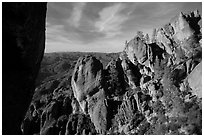 Top of High Peaks. Pinnacles National Park ( black and white)