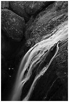 Bear Gulch Reservoir waterfall. Pinnacles National Park ( black and white)
