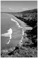 Crescent Beach from above. Redwood National Park ( black and white)