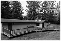 Hiouchi Information center. Redwood National Park ( black and white)