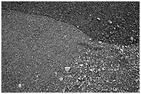 Close-up of sand and pebbles, Enderts Beach. Redwood National Park ( black and white)