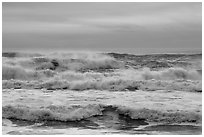 Breaking surf, Enderts Beach. Redwood National Park ( black and white)