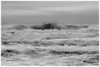 Breaking waves, Enderts Beach. Redwood National Park ( black and white)