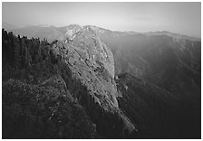 Moro Rock, dusk. Sequoia National Park ( black and white)