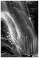 Waterfall near Crystal Cave, Cascade Creek. Sequoia National Park ( black and white)