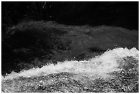 Water flowing over ledge, Marble Fall. Sequoia National Park ( black and white)