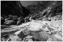 Marble fork of Kaweah River. Sequoia National Park ( black and white)