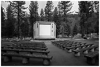 Amphitheater, Lodgepole Campground. Sequoia National Park ( black and white)