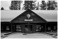 Lodgepole Visitor Center. Sequoia National Park ( black and white)