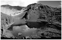 Ellery Lake in summer. California, USA ( black and white)